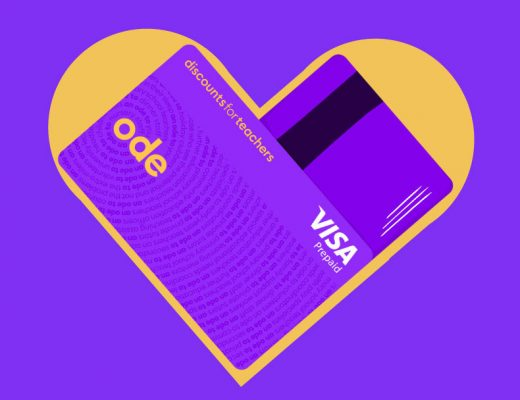 Ode card from Discounts for Teachers