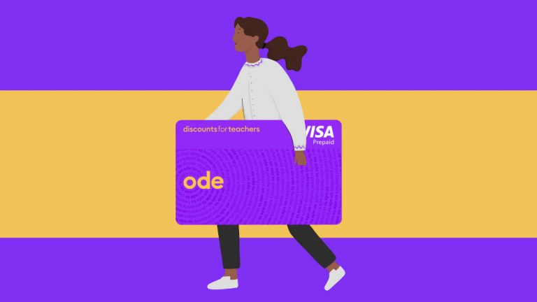 How to use your Ode card from Discounts for Teachers